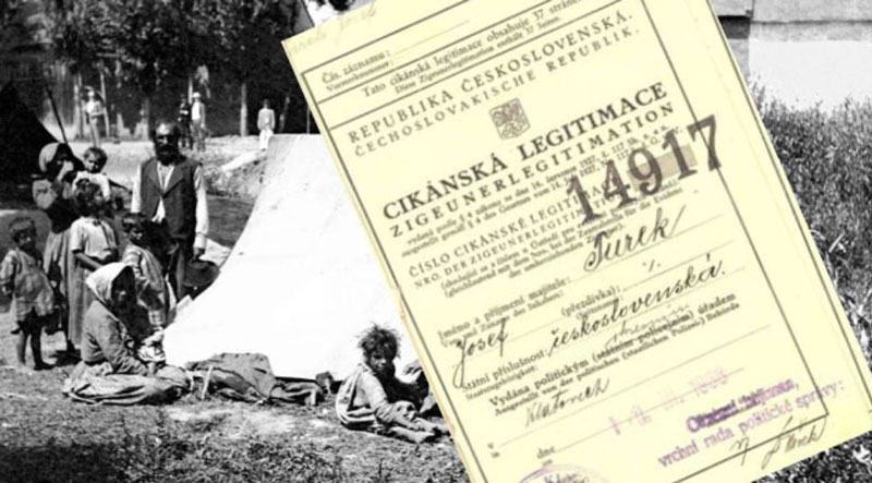 pre-ww2 czech roma id card used during ww2 roma internment