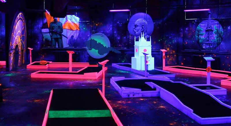 black light mini golf course