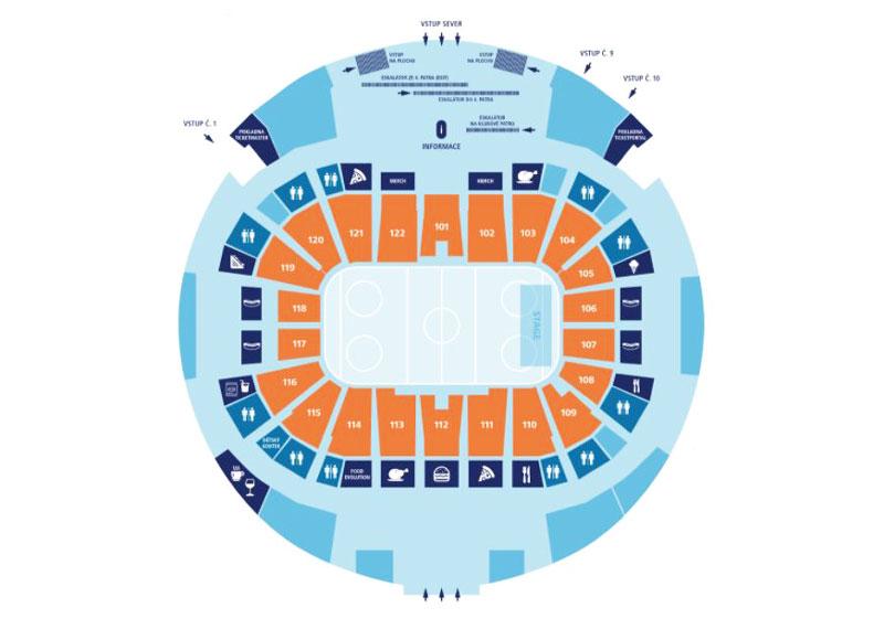 prague o2 arena first floor seating layout
