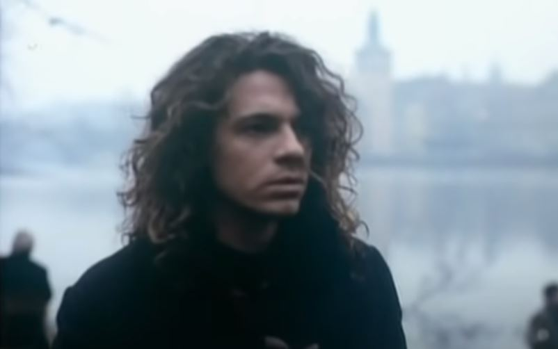 scene showing michael hutchence from the never tear us apart video filmed in Prague