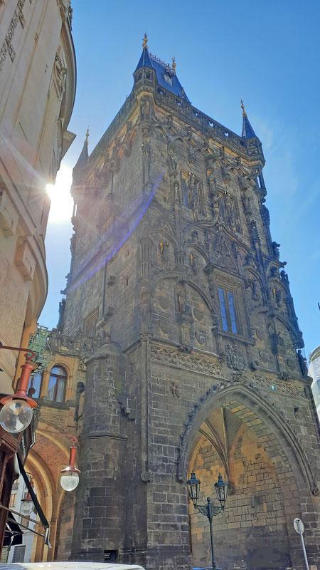Prague Powder Gate and edge of the Municipal House