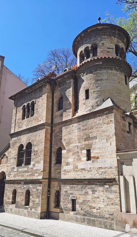 prague jewish ceremonial hall vertical aspect with blue sky