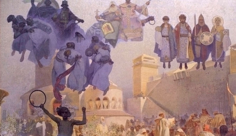 Slav epic Introduction of the Slavonic Liturgy in Great Moravia, Praise God in His Native Language