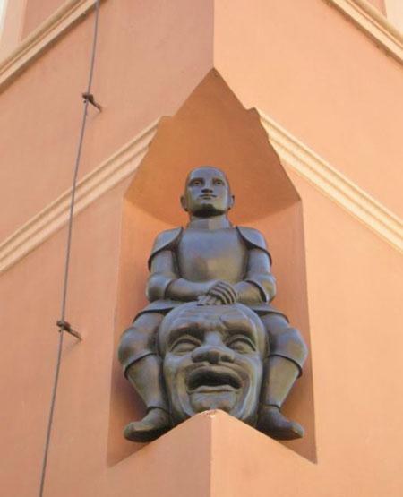 jaroslav rona bronze sculpture called david and goliath