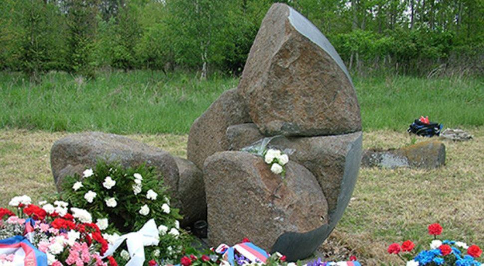 memorial to gypsy camp in at lety u pisku