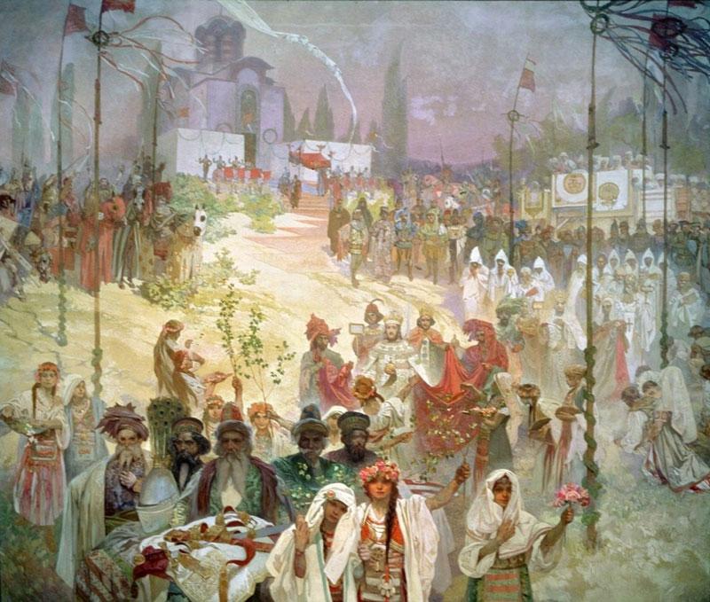 slav epic, the coronation of serbian tsar stepan dusan, slavic legislation