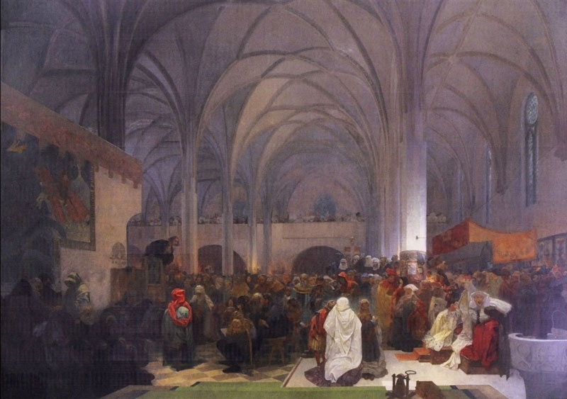 Slav Epic Jan Hus Preaching at the Bethlehem Chapel, Truth Prevails