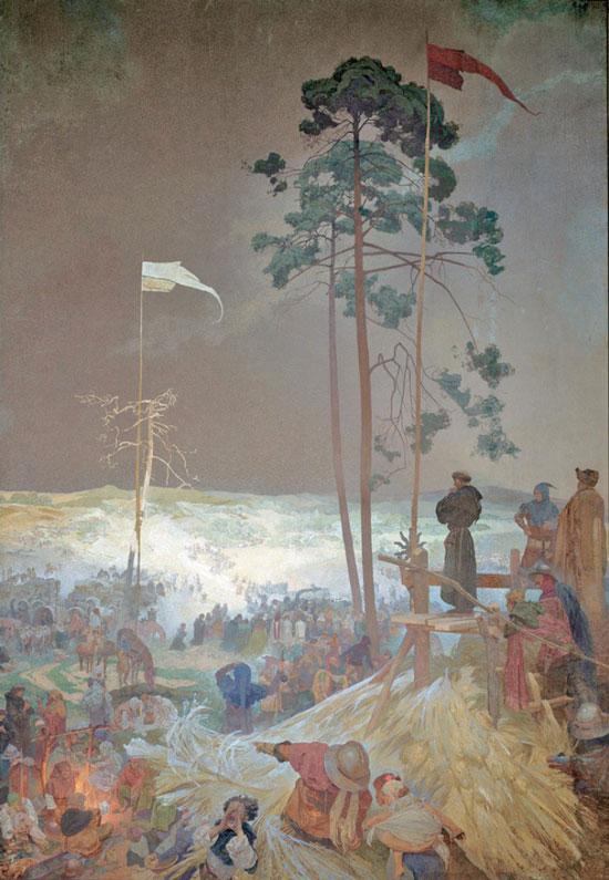 Slav Epic The Meeting at Krizky, Podoboji