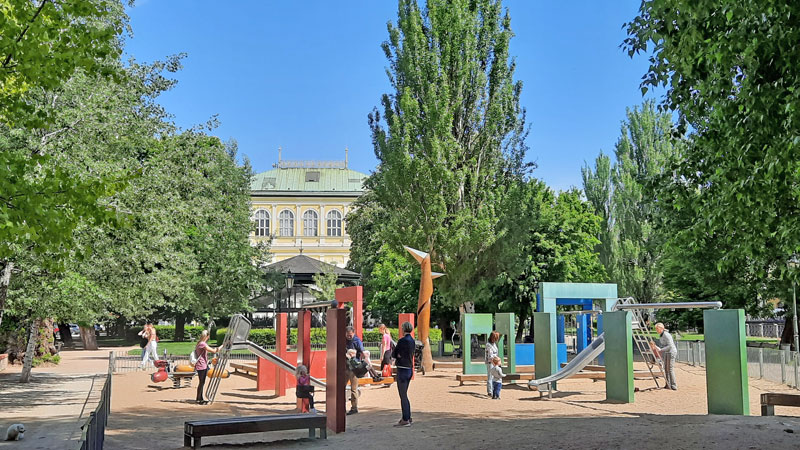 childrens playground behind sophies palace on slavonic island