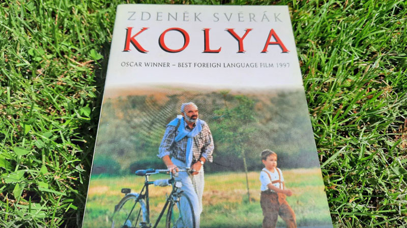 front cover of a book called kolja, best foreign film oscar winner in 1997
