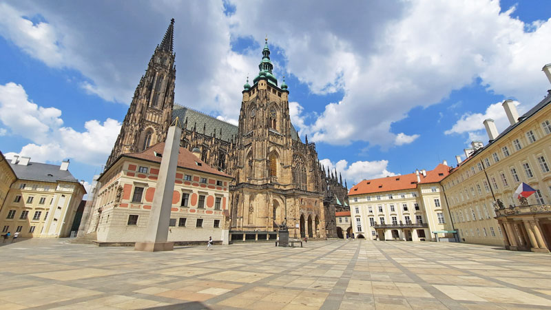 prague castle third courtyard dominated by st vitus cathedral