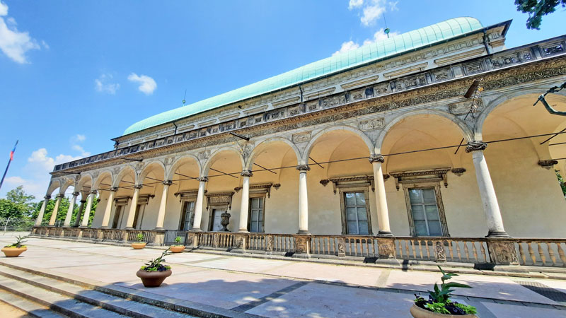 a close-up of the queen annes palace or belvedere in the prague castle imperial gardens