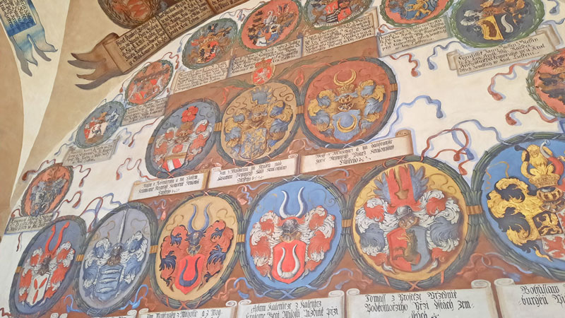 Prague Old Royal Palace New Office of Land Rolls Heraldry
