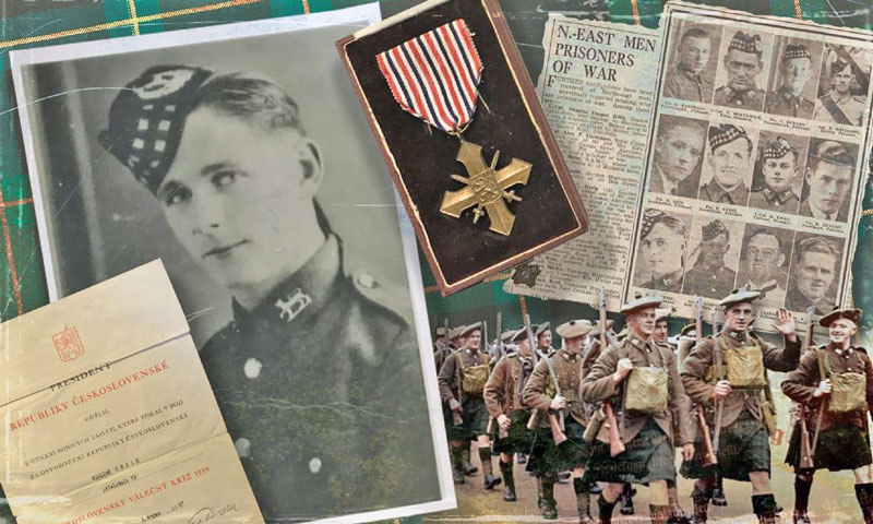 assorted wartime pictures documents and text relating to william greig