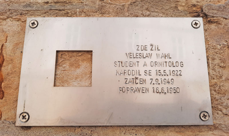 Prague Last Address Memorial Plaque