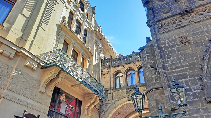 The Mission Impossible Prague filming location where the bodyguard checks the street and later when max and ethan escape in real life