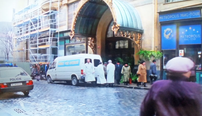 The Mission Impossible Prague filming location where the cia arrive in a white van