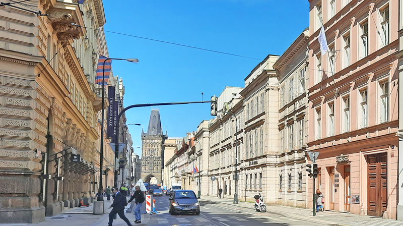 The Mission Impossible Prague filming location in a street called hybernska where max and ethan escape in a mercedes