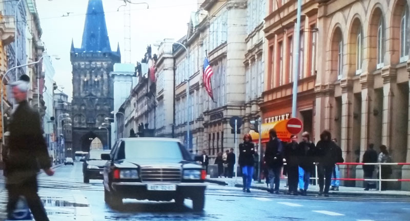 The Mission Impossible Prague filming location where max and ethan escape in the mercedes