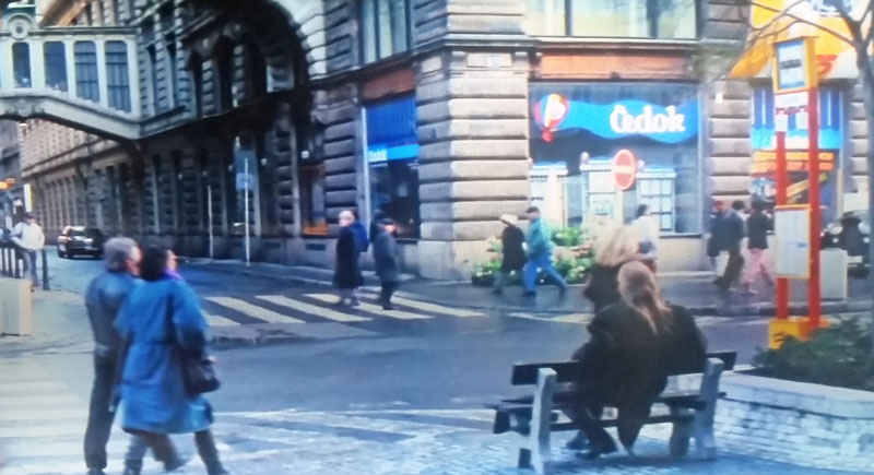 The Mission Impossible Prague filming location where ethan asks a man for a light