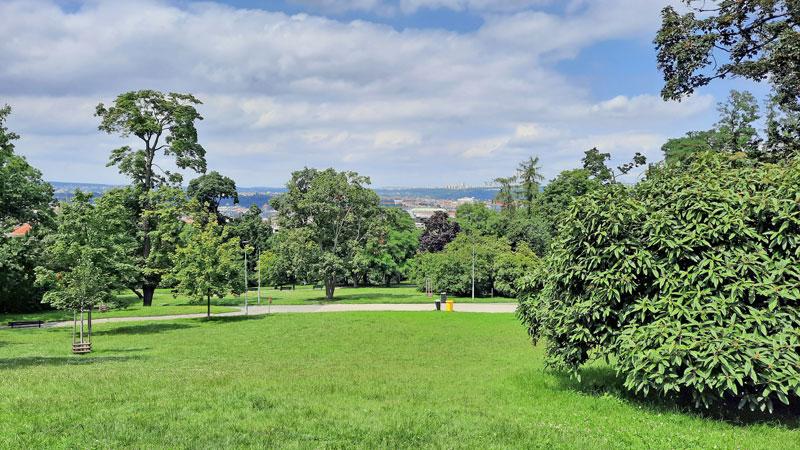 prague riegrovy sady park with view to city