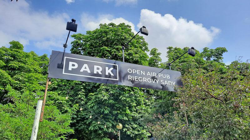 prague riegrovy sady park and beer garden entry